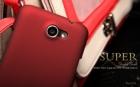 Vỏ ốp sần Nillkin màu đỏ cho HTC One X S720e