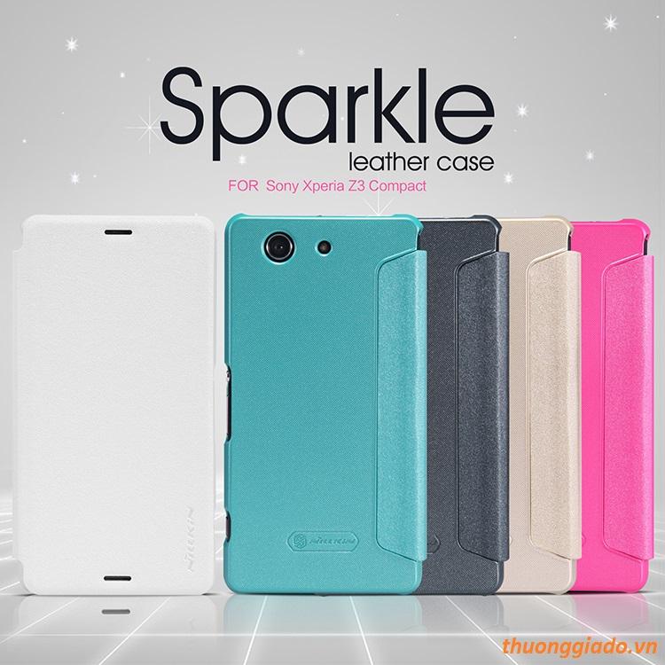 Bao Da Sony Xperia Z3 Compact ( Hiệu NillKin, Spark Series Leather Case )