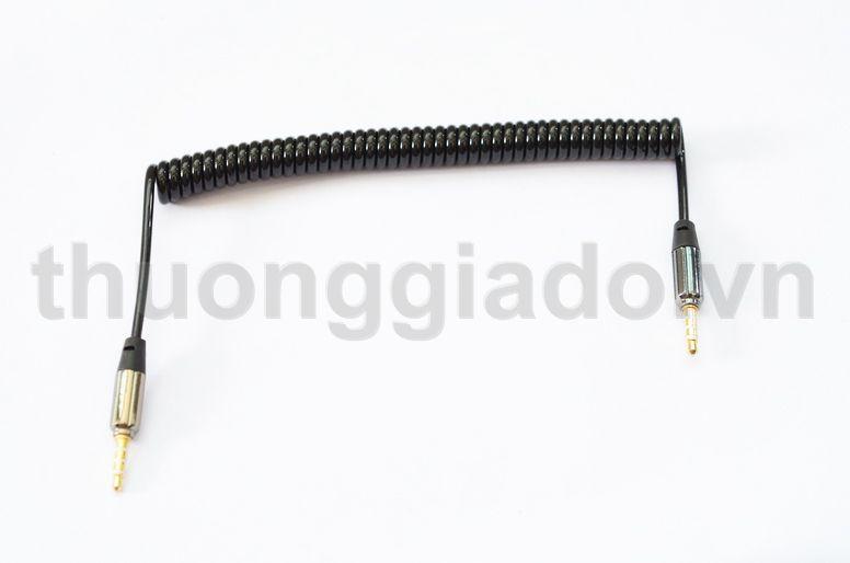 Giắc(dây) nối dài tai nghe 2 đầu 3.5mm (loại xoắn)