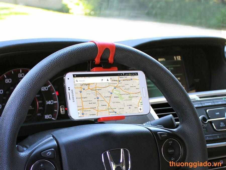 Kẹp giữ điện thoại trên vô lăng ô tô/xe hơi,Note 5,Note 4,iPhone 6,iPhone  6 plus