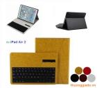 Bàn Phím Bluetooth iPad  Air 2 (iPad gen 6) kèm bao da book cover (loại mịn)