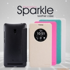 Bao Da Asus Zenfone 6_A600 có cửa sổ view ( NILLKIN NEW LEATHER CASE- Sparkle Leather Case )