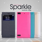 Bao Da BlackBerry  Z3 ( Hiệu Nillkin, Sparkle Leather Case )