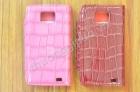 Bao Da  Cho Samsung Galaxy SII, i9100 (Kiểu Da Sần, Màu Hồng Và Màu Đỏ)