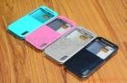 Bao Da HTC One (M8), Có cửa sổ view ( Hiệu USAMS, Merry Series )