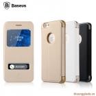 """Bao Da iPhone 6 - 4.7"""" 2 Cửa Sổ View ( Hiệu Baseus, PURE VIEW CASE )"""