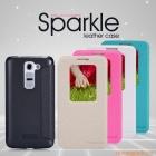 Bao Da LG G2 mini D618 NillKin - NEW LEATHER CASE- Sparkle Leather Case