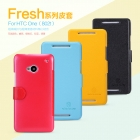 Bao Da NillKin HTC One (802t) 2 sim Fresh Series Leather Case