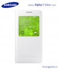 Bao Da S View Cover Chính Hãng Màu Trắng Cho Samsung Galaxy Alpha G850