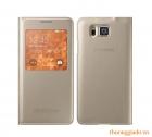 Bao Da Samsung Galaxy Alpha G850 S View Cover Chính Hãng Màu Vàng