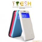 Bao Da Samsung Galaxy J/ N075t,Flip Cover có cửa sổ view (NillKin,Fresh Series)