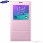 Bao Da Samsung Galaxy Note 4 S View Flip Cover Padding Chính Hãng Màu Hồng