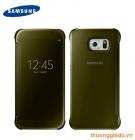 Bao Da Samsung Galaxy S6 G920f Clear View Cover Màu Vàng Chính Hãng
