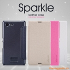 Bao Da Sony Xperia E3 ( Hiệu NillKin, Sparkle Leather Case )