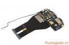 Bo mạch lỗ căm tai nghe+míc+flash+công tắc nguồn HTC Sensation-Z710e