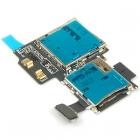 Cáp Ổ Sim/khay sim+thẻ nhớ Samsung Galaxy S4 i9500 Sim Card Reader Flex Cable