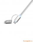 Cáp sạc USB HOCO 2 trong 1 (Lightning và Micro USB), iPhone 6, iPhone  6 Plus, G925f,G920f
