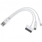 Cáp usb ra 03 đầu sạc cho iPhone 5,iPad 4,iPhone 4, N8000,P5100,P3100,N7100,i9300,lumia 920