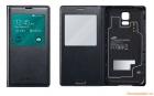 GENUINE SAMSUNG GALAXY S5/ SM-G900 S-VIEW FLIP CASE WIRELESS CHARGING COVER - BLACK
