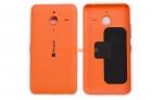 Nắp lưng-Nắp đậy pin-Vỏ Microsoft Lumia 640XL Màu cam Back Cover