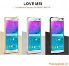 Ốp viền Samsung Galaxy Note 4/ Samsung SM-N910 Love Mei Curved metal bumper