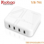 Sạc nhanh YOOBAO YB-701, Galaxy S5,iPhone 5S,One (M8),F400,iPad air,iPad 4