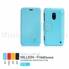 Bao Da Nokia Lumia 620 gập ngang (NillKin  Fresh Series Leather Case)