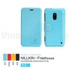 Bao Da Nokia Lumia 620 gập ngang (NillKin  Fresh Series Leather Case)