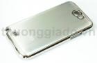 Vỏ ốp lưng cho Samsung Galaxy Note II, Note 2, N7100 (màu bạc,viền mạ crôm)