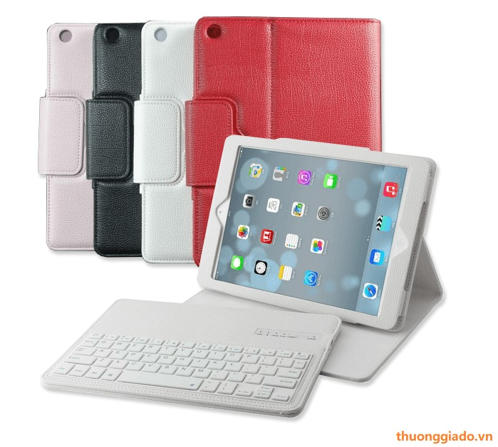 "Bàn phím bluetooth iPad Pro (10.5"") kèm bao da book cover (có quai gập)"