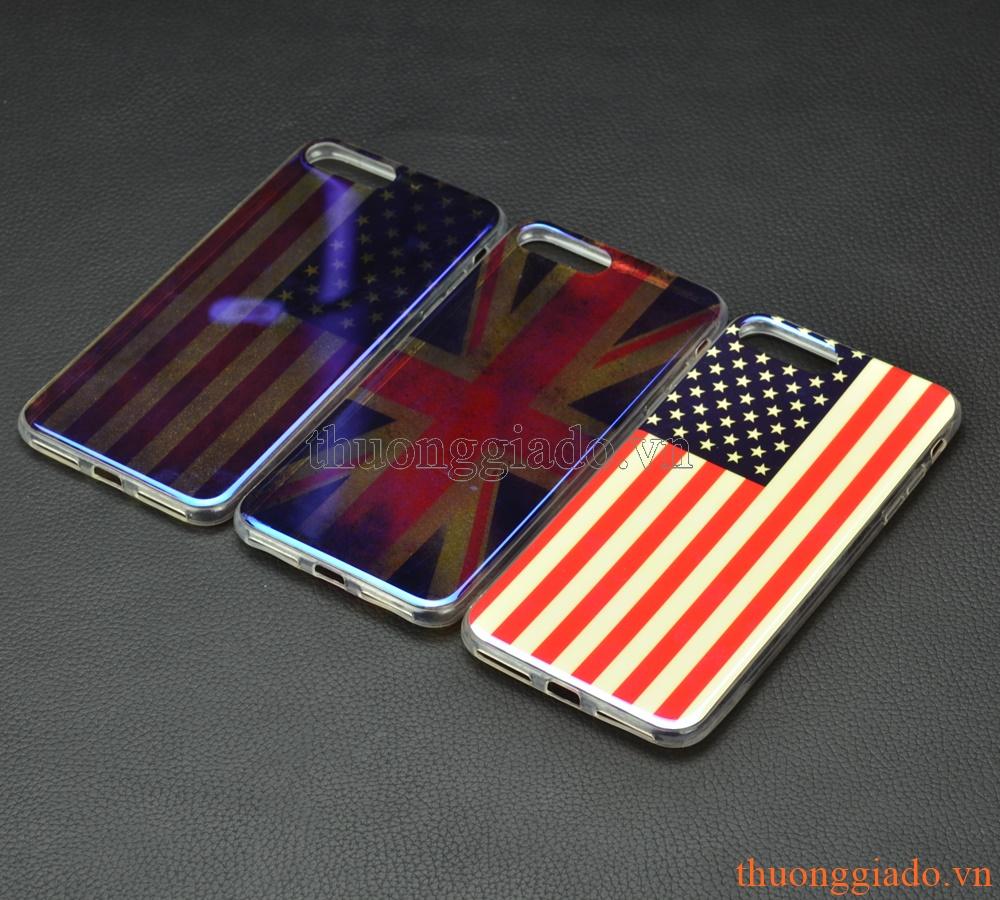 """Ốp lưng silicone mặt lưng in 3D cho iPhone 7 Plus (5.5""""), chủ đề quốc kỳ"""