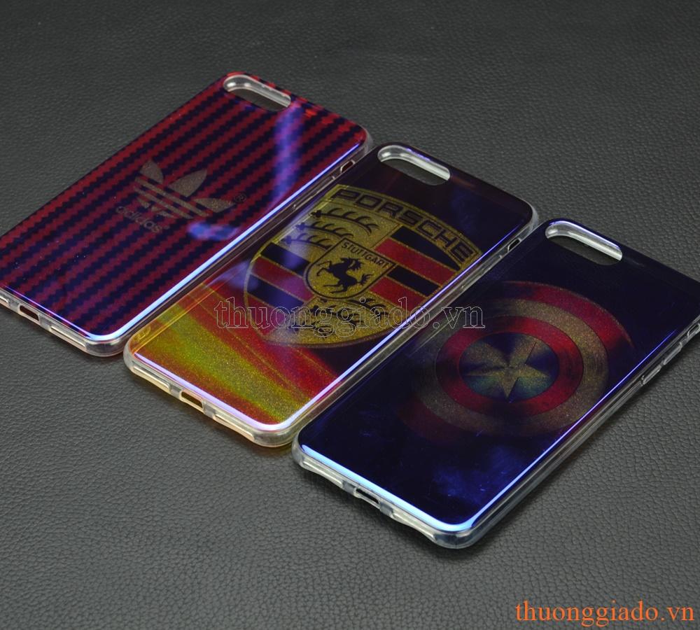 """Ốp lưng silicone mặt lưng in 3D cho iPhone 7 Plus (5.5""""), chủ đề Logo các hãng"""