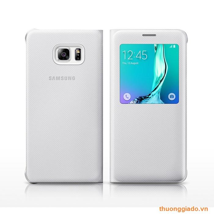 Bao Da Samsung Galaxy S6 Edge Plus/ G928/ S View Case Chính Hãng Màu Trắng
