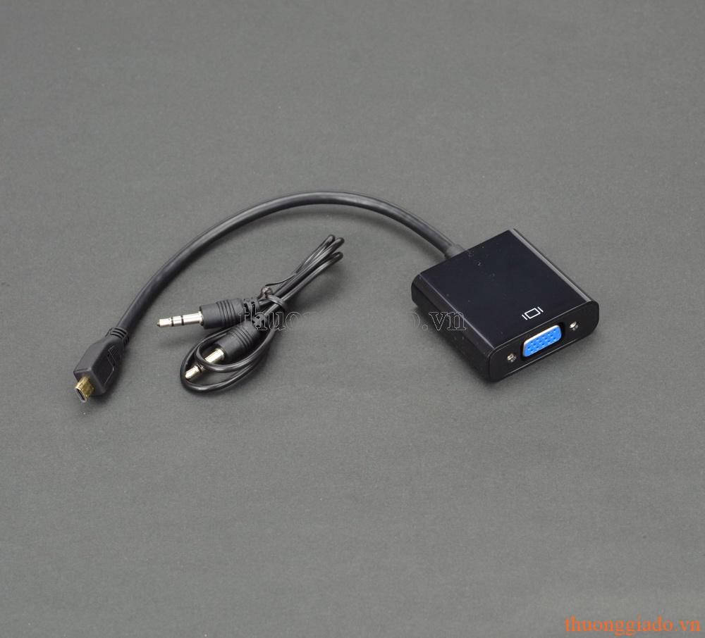 Cáp chuyển đổi Micro HDMI sang VGA