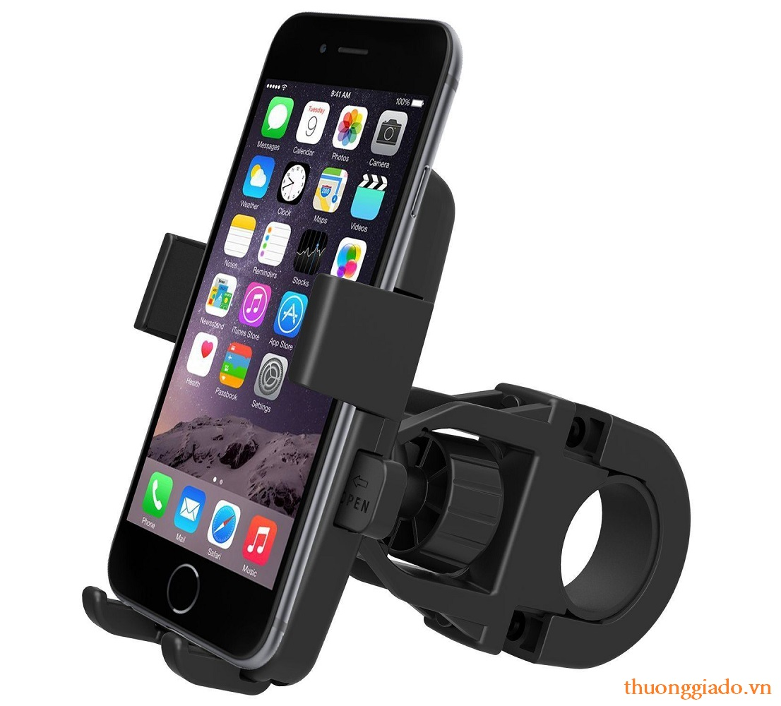 Kẹp giữ điện thoại trên ghi đông xe đạp & xe máy (sử dụng bằng 1 tay)