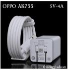 Bộ Củ Sạc+Cáp USB OPPO AK755 Chính Hãng-OPPO R7s, OPPO  R7 Plus