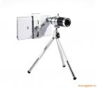 Lens telephoto zoom 12x kèm chân chống chụp hình cho điện thoại