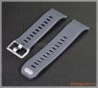 Dây đồng hồ smartwatch Fitbit Ionic (cao su, màu xám khói)