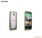 Ốp vành viền HTC One (M8) LoveMei Bumper, hợp kim, siêu mỏng