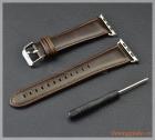 Dây đồng hồ Apple Watch 42mm (dây da bò, màu nâu tối)