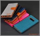 Bao da Samsung Note 8/ N950 (Hiệu CANVAS DIARY, GOOSPERY, mặt ngoài bọc vải)