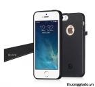 Ốp lưng silicone iPhone 5s, iPhone SE, siêu mỏng, màu đen, hiệu HOCO, JUICE Series