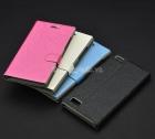Bao da cầm tay nắp gập mở cho BlackBerry Leap Z20 (flip leather case)