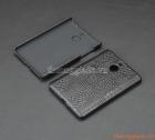 Ốp lưng nhựa giả da cá sấu cho BlackBerry Passport Silver (màu đen)