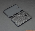 Ốp lưng BlackBerry Passport Silver màu đen, nhựa vân da cá sấu