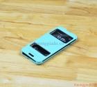 Bao da cầm tay Lots Double View Cho LG Optimus G Pro F240 E980 (2 ô cửa sổ) Màu Xanh