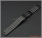 Dây đồng hồ Samsung Gear S2 Classic chất liệu thép không gỉ màu đen, mắt dây to