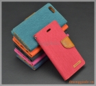 Bao da iPhone 6s/ iPhone 6, hiệu GOOSPERY, CANVAS DIARY flip leather case