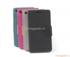 Bao Da Cầm Tay Sony Xperia M5 (Hiệu MERCURY) Flip Leather Case