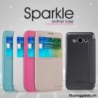 Bao Da Samsung Galaxy E5_Galaxy E500 (Hiệu NillKin, Sparkle Leather)